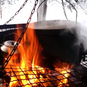 Foto Outdoor cooking